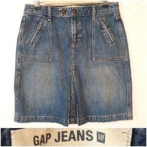 GAP Kick Pleat Jean Skirt